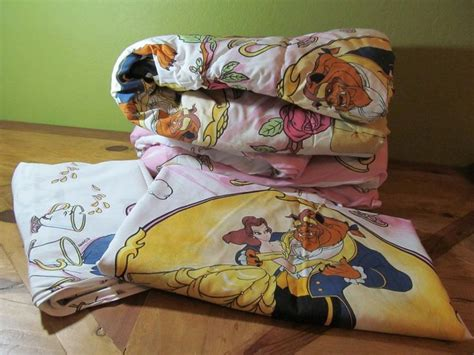 beauty and the beast bedding vintage disney s beauty and the beast twin bedding comforter sheet and fitted disney