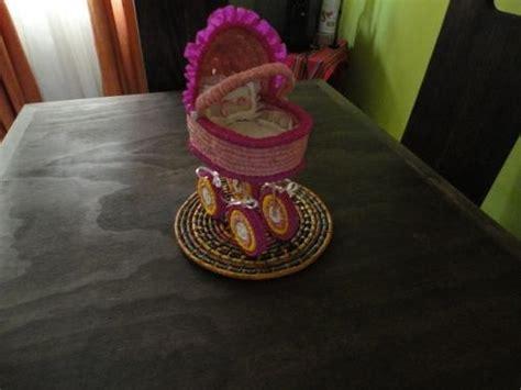 centros de mesa carreola crepe para baby shower o bautizo 85 00 en mercado libre