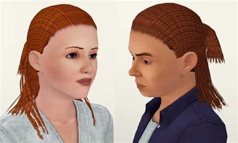 sims3 black hairstyles my sims 3 blog dreads curtain for both genders and all