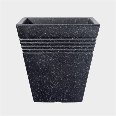Lead Effect Planters by Lead Effect Square Planter Stewart Garden