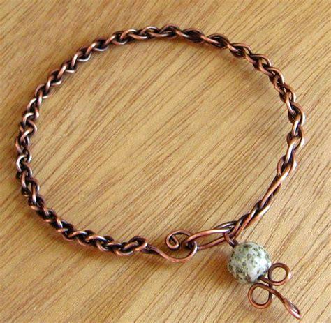 braiding jewelry braided copper bangle tutorial annemade jewelry