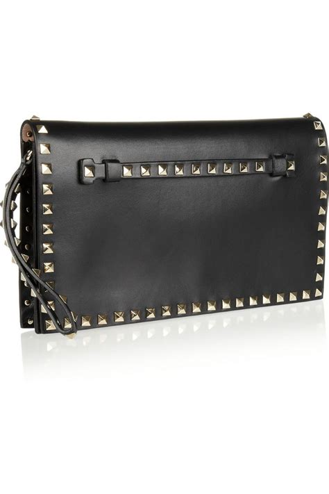 Goldenbleu Bag Giveaway by Valentino The Rockstud Leather Clutch Net A Porter