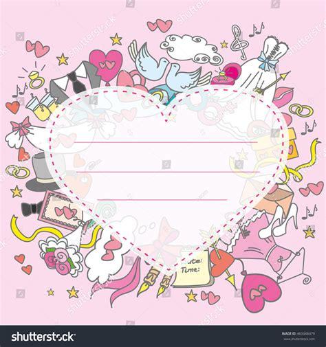 doodle wedding doodle wedding greeting card stock illustration