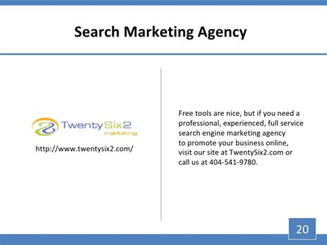 Email Account Search Engine Top 20 Search Engine Marketing Tools