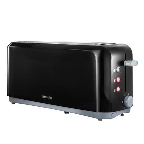 Toasters Slot breville black slot 4 slice toaster vtt233