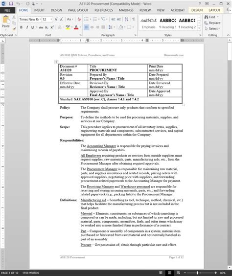 purchasing manual template purchasing manual template pchscottcounty