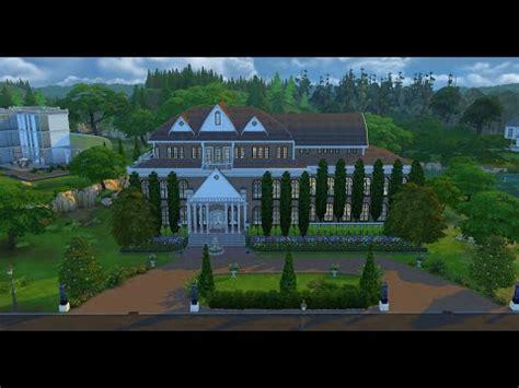Blueprints To Build A House The Sims 4 House Build Wayne Manor Youtube