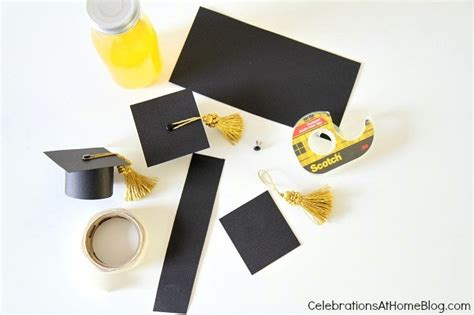 How To Make A Paper Graduation Cap - diy graduation cap bottle toppers celebrations at home
