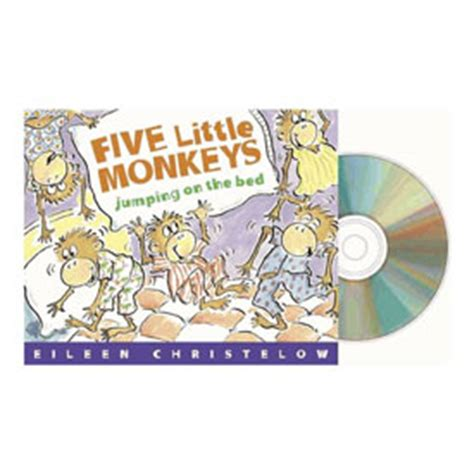 5 little monkeys jumping on the bed book five little monkeys jumping on the bed book cd early childhood eai education