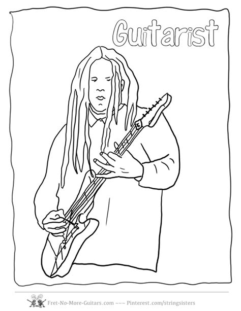 guitar player coloring page electric guitar coloring pages coloring home