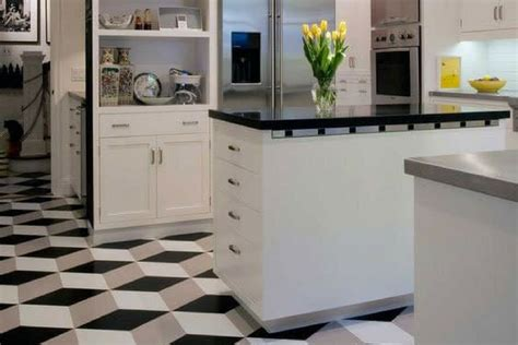 Apartment Therapy Kitchen Floor Tiles 11 Diy Design Hacks For A Geometric Condo Kitchen