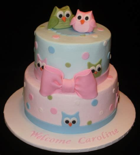 Owl Baby Shower Cakes For A by Pottery Barn Owl Baby Shower Cake Cakecentral