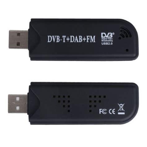 Usb Tv Tuner Fm Radio black mini digital tv stick usb dvb t dab fm radio tuner