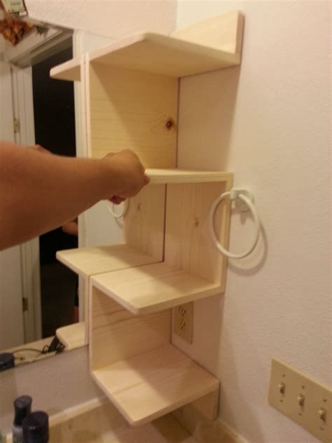 build  corner shelf   bathroom  techshop