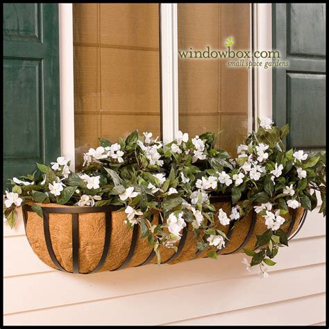 window box baskets xl garden window basket w coco liner hayrack