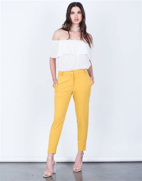 Soft Trouser Pant soft trouser cropped woven lightweight