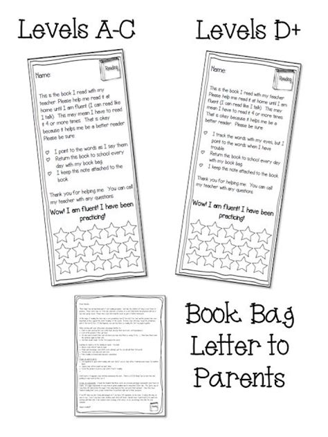 Parent Letter For Literacy Bag 17 Best Ideas About Parent Letters On Letters For Parents Open House Letters And