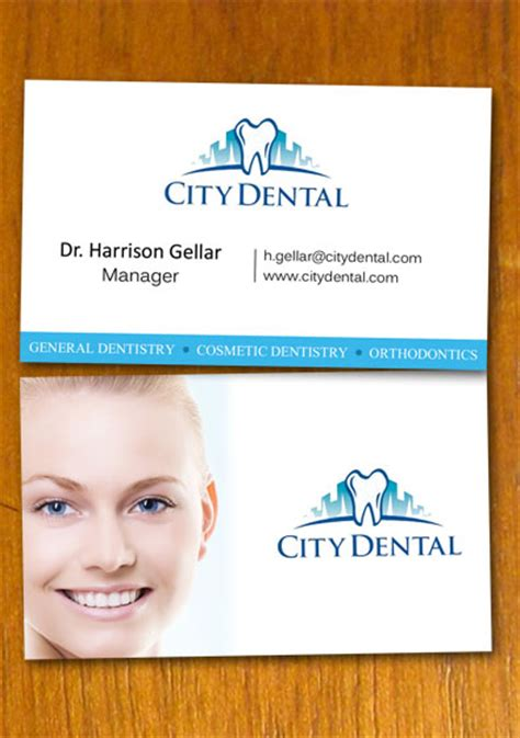dentist business cards free templates dentist and dental business card template by danbradster