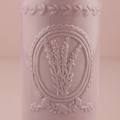 Z Sale New Flower 7 Motif vintage inspired ceramic bottle with lavender motif