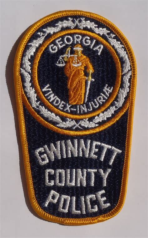 Gwinnett County Criminal Search Embroidered Patch Department Gwinnett County Ga Ebay