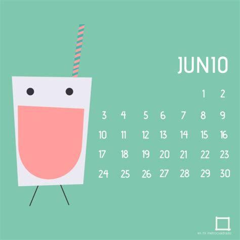 Calendario De Junio Im 225 Genes De Calendarios Mes De Junio 2016 Para Descargar E