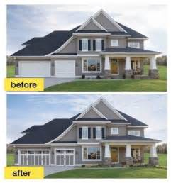 Tri Level Curb Appeal - before and after garage makeovers traditional exterior