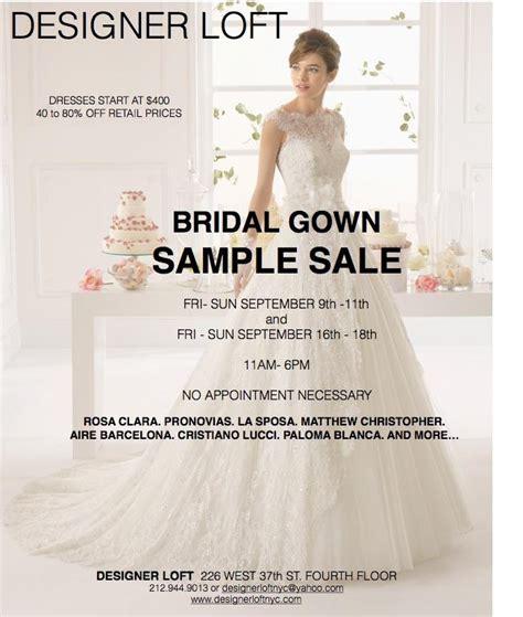 10 West 18th 9th Floor by Designer Loft Bridal Gown Sle Sale New York September