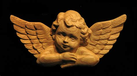 Valance For Window Onlay Cherub Carved Wood