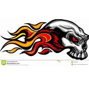 Flaming Skull Graphic Image Stock Images  21906164