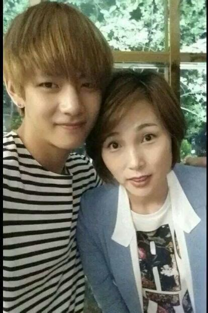 kim taehyung younger brother bts with their family army s amino