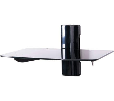 Single Glass Shelf by Ttap Ttd 1 Single Glass Wall Shelf Black Black