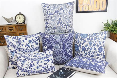 the linen store and home decor aliexpress buy blue and white china flower home decor pillow cushion decorative linen