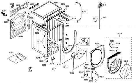 bosch washing machine parts diagram bosch washer panel parts model wfmc530cuc 13