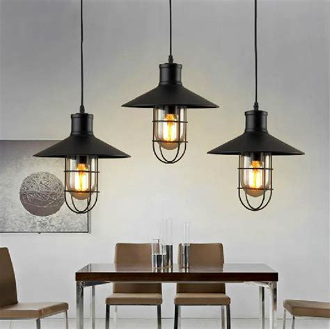 country pendant lighting for kitchen vintage loft industrial american country lustre iron