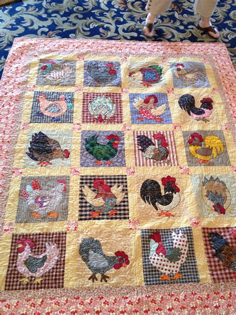 quilt pattern rooster chicken and rooster quilt no pattern available it was