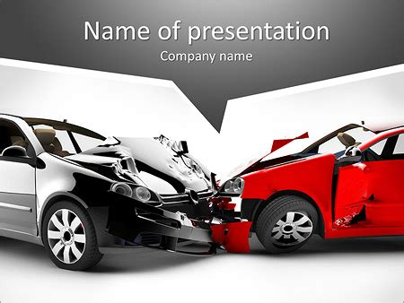 car accident powerpoint template backgrounds id