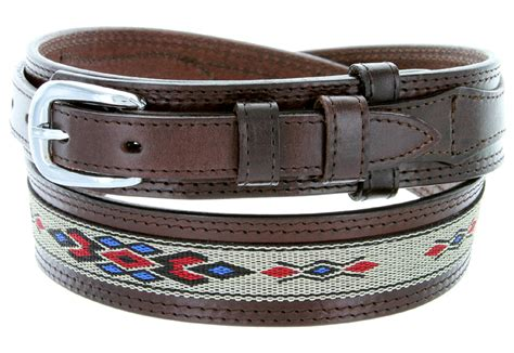 s genuine leather with cloth ranger belt brown