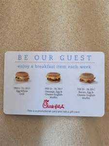 Buy Chick Fil A Gift Card - best chick fil a free breakfast promotional card for sale in huntersville north