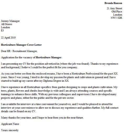 Hr Business Letter Writing manager cover letter manager cover