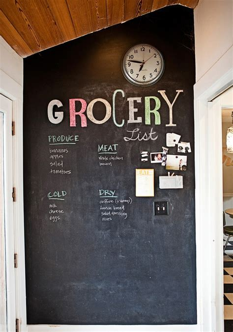 chalkboard ideas for kitchen thriftionary chalkboard painted wall craze
