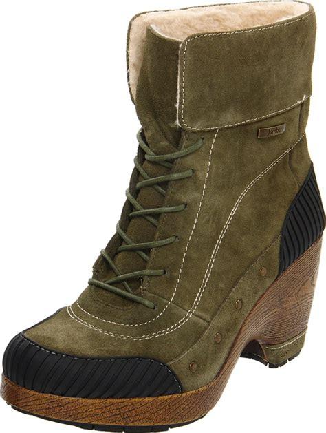 jambu jambu womens netherlands boot in brown olive lyst