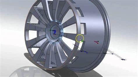 tutorial solidworks wheel solidworks tutorial new design for a car wheel rim 20