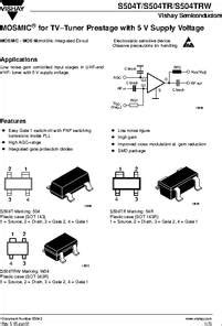 transistor w04 s504trw datasheet mosmic 174 for tv tuner prestage with 5 v supply voltage