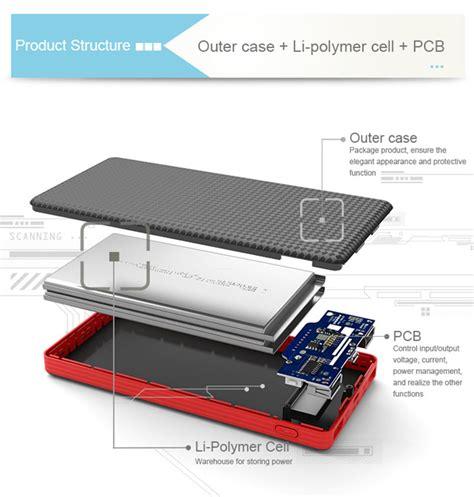 Power Bank Lithium Polymer pineng pn 963 10000mah lithium polymer power bank black