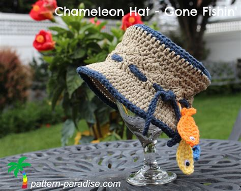 pattern fish youtube free crochet pattern chameleon hat gone fishin