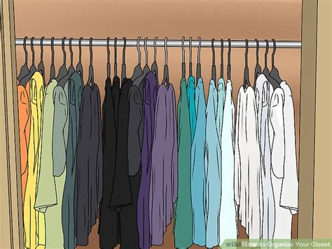 design clothes wikihow how to organize your closet 13 steps with pictures