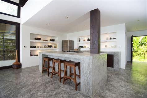 concrete kitchen design concrete kitchen island countertops interior design ideas