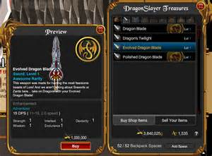 Spanirix aqw the best weapon to kill dragon monster legend only