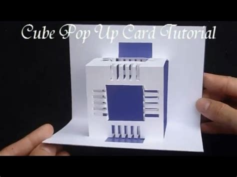 pop up cube card template 17 how to make an amazing cubes pop up card origamic