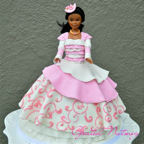 black doll cake princess doll cakes grated nutmeg